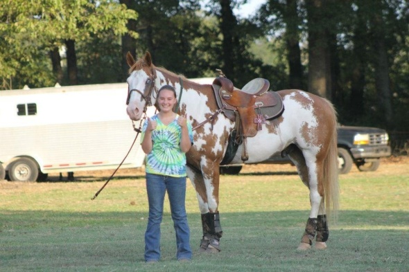 The moment she found out she qualified for the State Horse Show last summer.