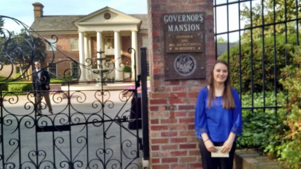 JQ at Honors day at the Arkansas Governors Mansion