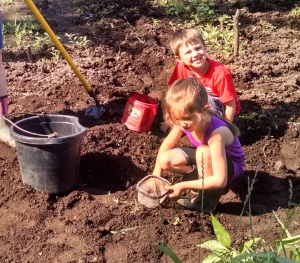 Digging worms!